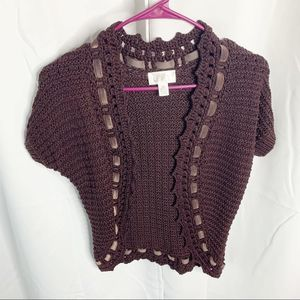 Loft brown knitted cardigan xs